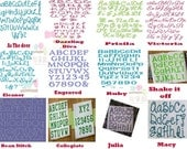 Personalization (one name/word)  for blankets and car seat covers