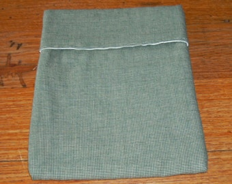 Cooking Bag in Hunter Green Mini Check Homespun Fabric