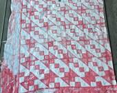 Red White Cutter Piece CHRISTMAS CRAFT SUPPLIES Pillows 32 X 40 Quilt