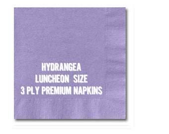 HYDRANGEA Party Napkins, Lavender Periwinkle Paper Napkins, Premium LUNCHEON Size 3-ply (pack of 50 napkins)
