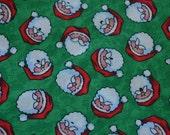 Santa Fabric, Santa Face Fabric, Santa Claus Fabric, Christmas Fabric, Holiday Quilting, Stocking Fabric, Novelty Fabric, Fabric by the yard