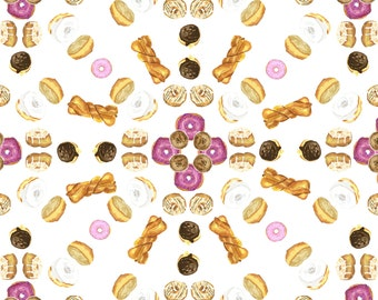Donut Mandala Postcard - Single (1) Postcard for Donut Lovers