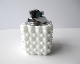 Vintage Fenton Milk Glass Hobnail Lighter