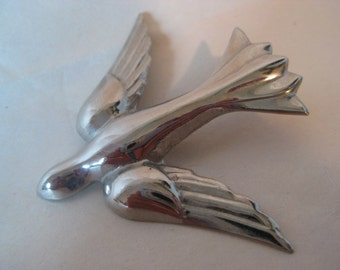 Bird Dove Brooch Silver Pin
