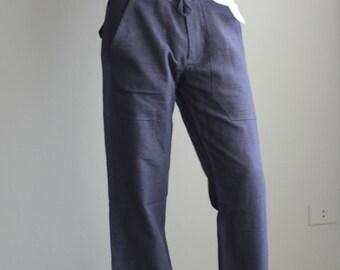 Men's 100 percent hemp pants..Natural colour Size M.... Ready to ship