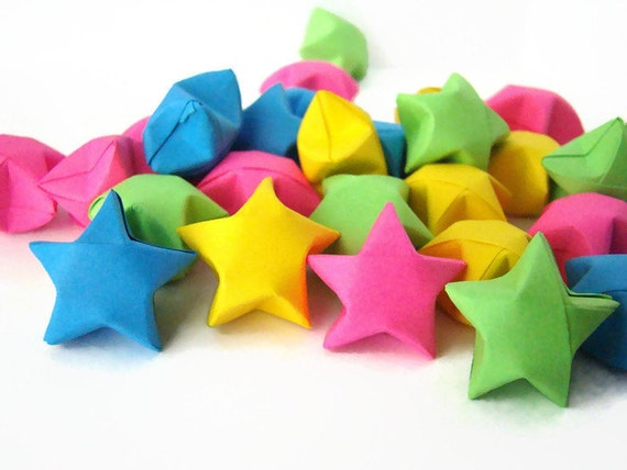 100 Origami Lucky Stars - Solid Colors - You Pick the Color(s)