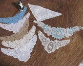 Wow...Lowered Price...Lot 8 Appliqued Collars, Clothing Inserts, Dress Inserts,