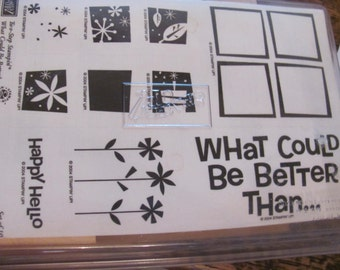 Wow...Lowered Price... What Could Be Better Stampin Up Rubber Stamp Set, Uncut, New in Box