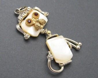 Large Vintage Dog Pendant Puppy Whimsical Jewelry C6582