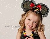 Made to match Minnie Mouse 2015 Dress by JK Heirloom Chunky Necklace for girls