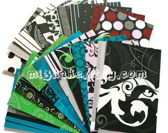 All Dressed Up Paper Scrap Pack  ~ Set of 23 Gilttery Patterned DCWV Scrapbook Paper  4x6