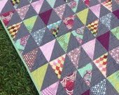 NEW YEAR SALE!! Parisville Modern baby quilt, toddler quilt, lap quilt, blanket
