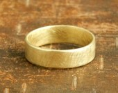 6 mm gold wedding band, 14k solid yellow gold band, 14k solid gold wedding ring.