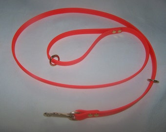 Beta Biothane Dog Leash - 5 foot with 2 extra rings