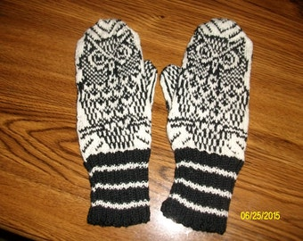 Owl Mittens - child size