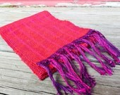 Crimson Cast Handwoven Scarf