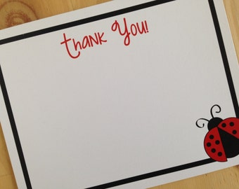 Ladybug Stationery | Ladybug Thank You Cards | Kids Thank You Cards | Girl Thank You Cards