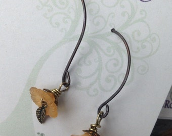 Little yellow flower earrings