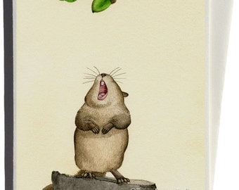 Yummy Acorn Greeting Card by Tracy Lizotte
