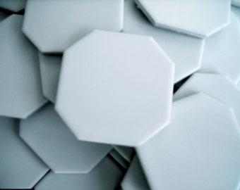 200  Ready for Repurpose White Octagon Upcycle Ceramic Tiles