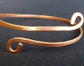 Copper Wire Bracelet Hammered wrist bangle UpCyCleD Ethical Jewellery