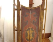 Reserved for Nicki Antique 1800s Folk Art Painted Christmas wooden Sleigh Sled display primitive