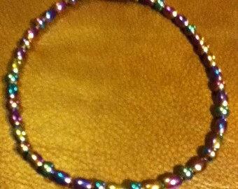 Rainbow Magnetic Anklet with Rainbow Magnetic Clasp