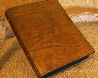 Classic Brown Leather 6 Ring Slimline Binder, A5 Organizer (Filofax Compatible)