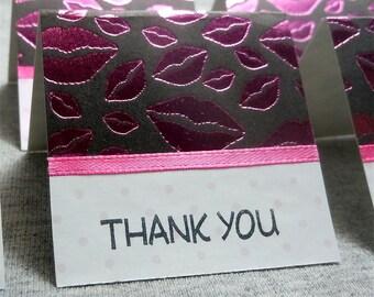 Pretty Pink Lips Mini Thank You Cards 2x2 (6)