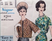 Vintage Vogue Pencil Dress and Jacket Sewing Pattern 1960