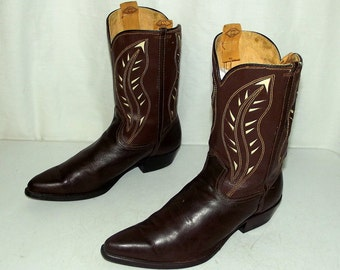 Vintage 1950s Rockabilly Western cowboy boots - mens size 6 D / womens 7.5