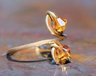 Citrine Toe Ring November Birthstone Crystal Jewelry