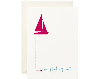 You Float My Boat   Greeting Card   Gift Card   Toodles Noodles