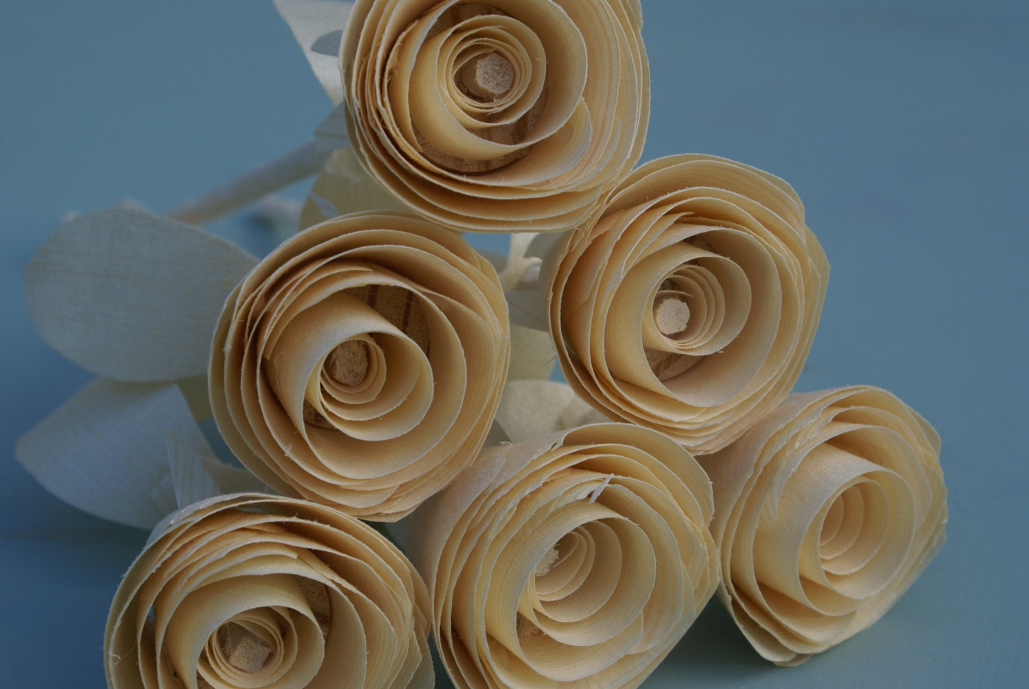 Traditional 5th Wedding Anniversary Gifts: 6 Wood Roses Anniversary Gift Five Year Anniversary