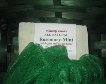 Rosemary-Peppermint Goat milk olive oil soap.  This will bring you alive every morning.