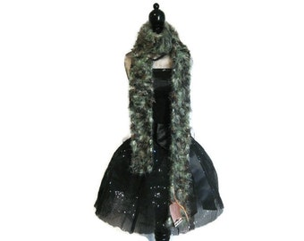 "Camo Fuzzy Knitted Scarf ""Infatuated with Camo"""