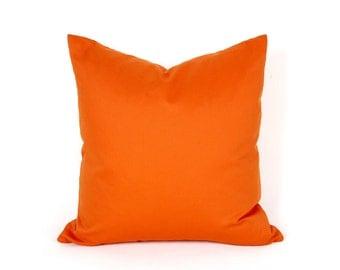 Bright Orange Throw Pillow, Solid Orange Pillow Covers, Decorative Orange Cushion, Vibrant Saturated Hues, Spring Decor, 14, 18x18, 20x20