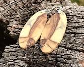 Wood Earrings Ultra Light Eco Wear That Tells A Story