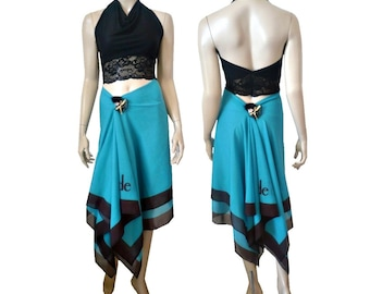3 in 1 Aubade Blue/Black Summer Skirt / Dress / Pareo