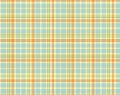 Mommy and Me Blue/Peach Plaid cotton quilting fabric by Shelly Comiskey for Henry Glass and Company