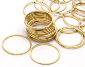 50 Raw Brass Circle Connectors (20 mm) Bs-1107