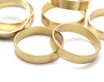 Brass Band Ring - 24 Raw Brass Ring Settings (18x4x0.80mm) Bs-1135--r010