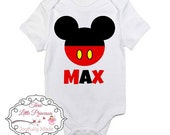 Mickey Mouse Inspired Onesie or T Shirt - Mickey Mouse T Shirt