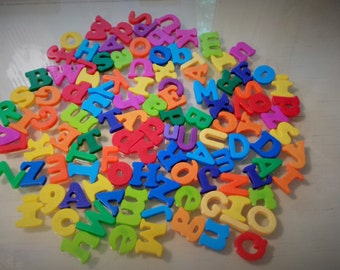 113 Plastic Letter Alphabet Magnets