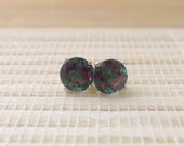 Mystic Topaz Stud Sterling Silver Earrings 6mm