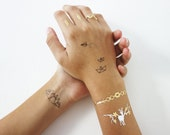Temporary tattoos, metallic tattoos, designed by Shlomit Ofir