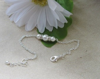 Bridal Bracelet Pearl Rhinestone Bridesmaids, Tiffany