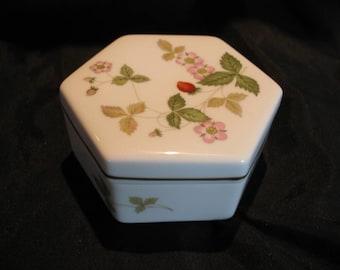 Vintage Wild Strawberry Trinket Box By Wedgwood