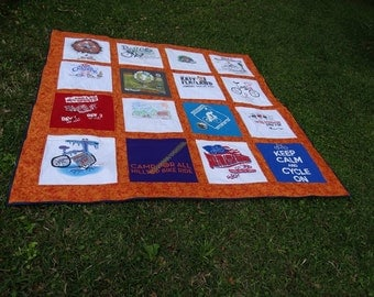 Quilt made from your Tshirts to create a quilt of Memories