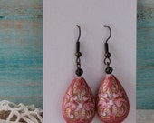 Pink and Bronze Earrings